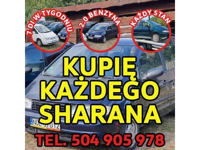 Skup VW Sharan, Każdy Kupię Sharana 2.0 Benzyna / Kupię Toyota,Kaczka,Atos,VW Golf 1.8